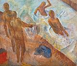 Bathing Boys 1921 By Kuzma Petrov-Vodkin