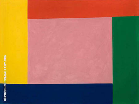 Pink with Border 1967 By Jack Bush - Oil Paintings & Art Reproductions - Reproduction Gallery