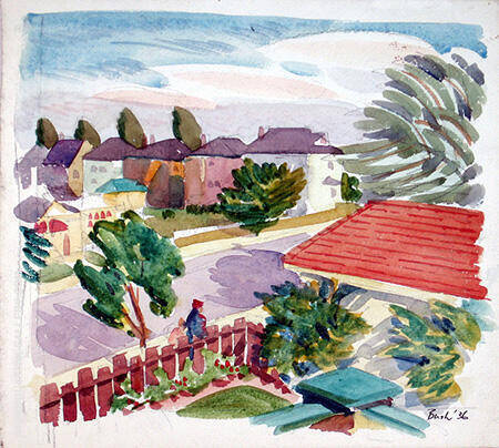 Back Garden at 43 Chudleigh 1936 By Jack Bush