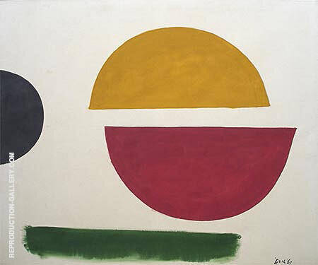 Split Circle 1961 By Jack Bush - Oil Paintings & Art Reproductions - Reproduction Gallery