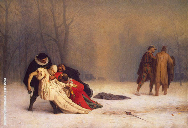 Duel after a Masked Ball 1857 Painting By Jean Leon Gerome