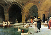 The Grand Bath at Bursa 1885 By Jean Leon Gerome