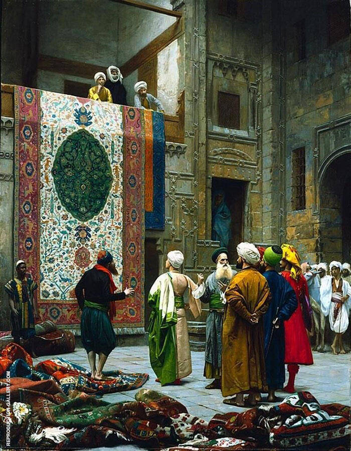 The Carpet Merchant c1887 Painting By Jean Leon Gerome