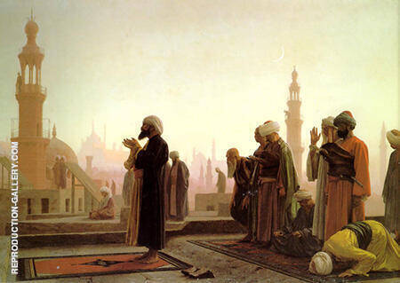 Prayer in Cairo 1865 Painting By Jean Leon Gerome - Reproduction Gallery