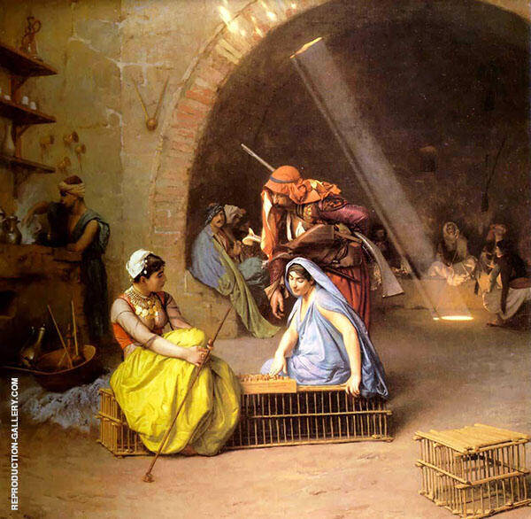 Almehs Playing Chess 1870 Painting By Jean Leon Gerome