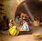 Almehs Playing Chess 1870 By Jean Leon Gerome