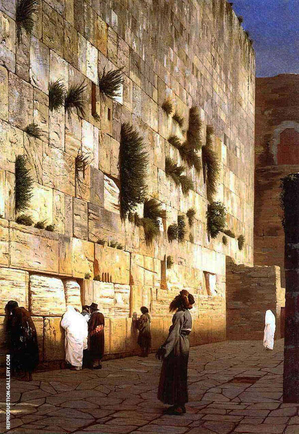 Solomons The Wailing Wall 1869 Painting By Jean Leon Gerome