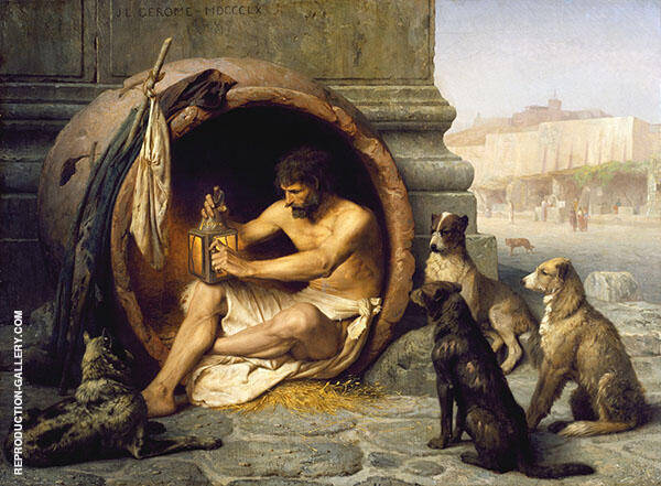 Diogenes 1860 Painting By Jean Leon Gerome - Reproduction Gallery