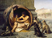 Diogenes 1860 By Jean Leon Gerome
