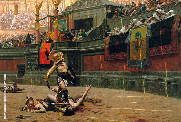 Pollice Verso 1872 Painting By Jean Leon Gerome - Reproduction Gallery