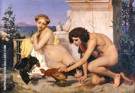Combat de coqs Salon 1846 By Jean Leon Gerome - Oil Paintings & Art Reproductions - Reproduction Gallery