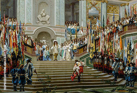 Reception du Grand Conde par Louis XIV 1674 By Jean Leon Gerome - Oil Paintings & Art Reproductions - Reproduction Gallery