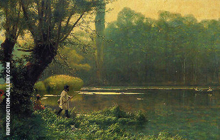 Summer Afternoon on a Lake c1895 By Jean Leon Gerome