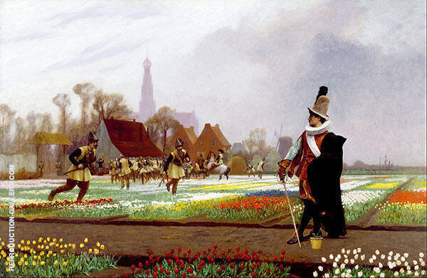 Duel among The Tulips 1882 Painting By Jean Leon Gerome