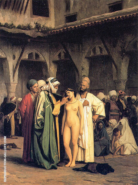 The Slave Market 1866 By Jean Leon Gerome - Oil Paintings & Art Reproductions - Reproduction Gallery