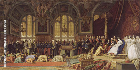 The Reception of the Siamese Ambassadors at Fontainebleau By Jean Leon Gerome