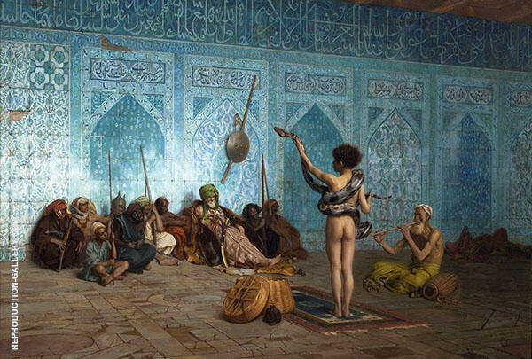 Snake Charmer 1889 Painting By Jean Leon Gerome - Reproduction Gallery