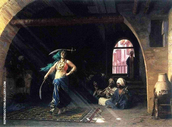 Sabre Dance in a Cafe 1876 Painting By Jean Leon Gerome