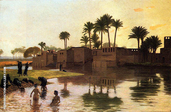 Bathers by the Edge of a River 1893 By Jean Leon Gerome