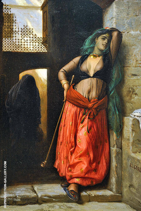 The Almeh with Pipe 1873 By Jean Leon Gerome - Oil Paintings & Art Reproductions - Reproduction Gallery