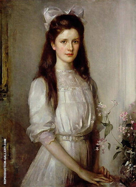 Miss Christian Elspeth Mallock By Arthur Walton - Oil Paintings & Art Reproductions - Reproduction Gallery
