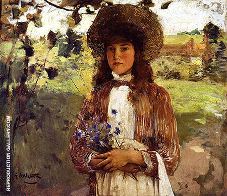 Bluette 1891 By Arthur Walton - Oil Paintings & Art Reproductions - Reproduction Gallery