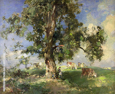 The Old Ash Tree By Arthur Walton - Oil Paintings & Art Reproductions - Reproduction Gallery