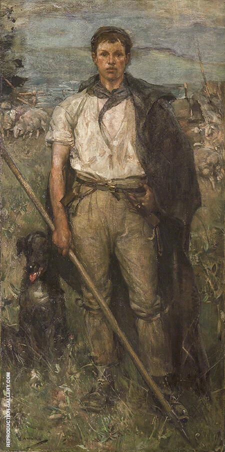The Shepherd By Arthur Walton - Oil Paintings & Art Reproductions - Reproduction Gallery