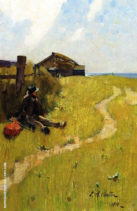 The Wayfarer By Arthur Walton - Oil Paintings & Art Reproductions - Reproduction Gallery