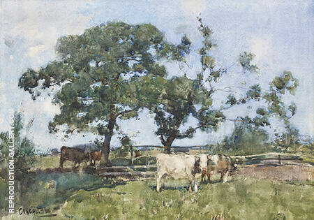 Bucolic Landscape 1886 By Arthur Walton - Oil Paintings & Art Reproductions - Reproduction Gallery