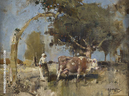 Pastoral 1891 By Arthur Walton - Oil Paintings & Art Reproductions - Reproduction Gallery