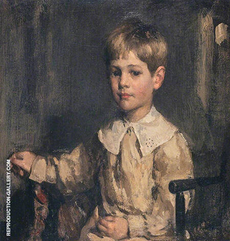 Son of Edward Arthur Walton as a Child By Arthur Walton - Oil Paintings & Art Reproductions - Reproduction Gallery