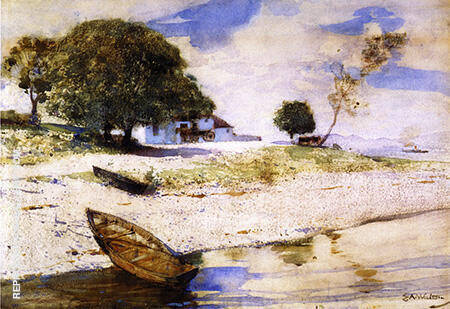 At Rosneath 1883 By Arthur Walton - Oil Paintings & Art Reproductions - Reproduction Gallery