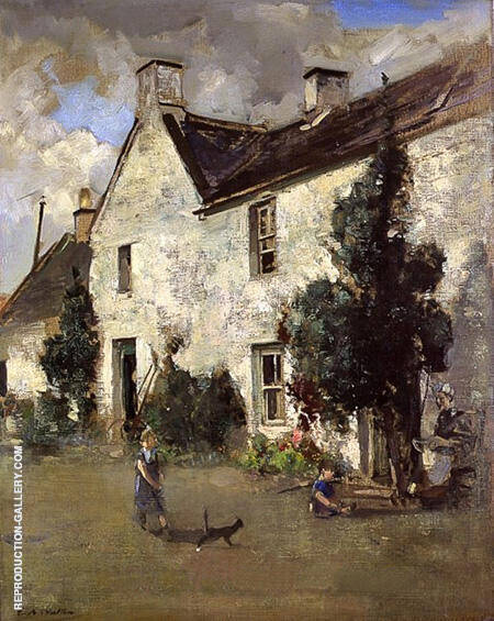 The White House New Abbey By Arthur Walton - Oil Paintings & Art Reproductions - Reproduction Gallery