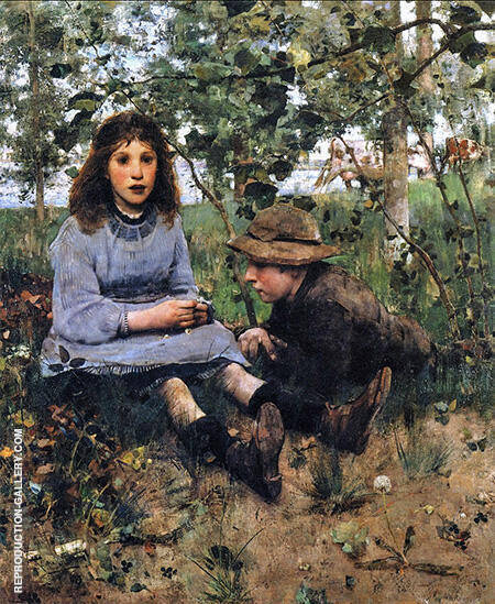 A Daydream 1885 By Arthur Walton - Oil Paintings & Art Reproductions - Reproduction Gallery