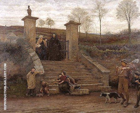 Frederick Walker The Old Gate 1869 By Arthur Walton - Oil Paintings & Art Reproductions - Reproduction Gallery