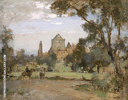 Sweetheart Abbey By Arthur Walton - Oil Paintings & Art Reproductions - Reproduction Gallery