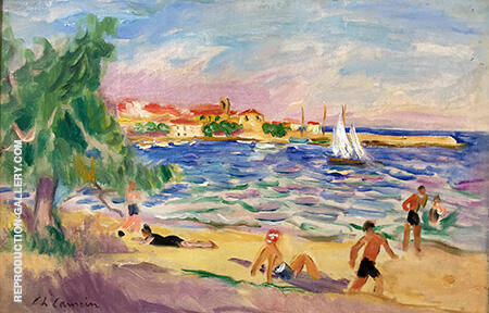 La Plage De Sainte Maxime By Charles Camoin - Oil Paintings & Art Reproductions - Reproduction Gallery