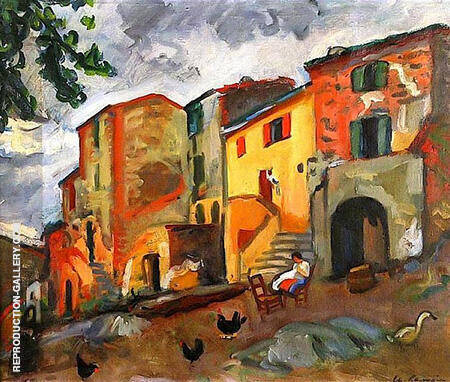 Village Street in Collioure 1912 By Charles Camoin