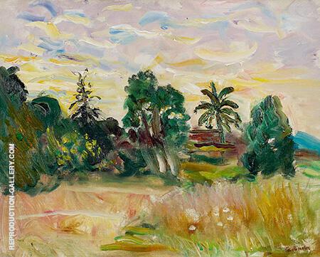 Paysage autour de la villa Tournevent 1964 Painting By Charles Camoin