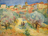 Vue de Ramatuelle 1937 By Charles Camoin