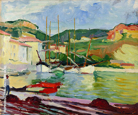 Port de Cassis c1905 Painting By Charles Camoin - Reproduction Gallery