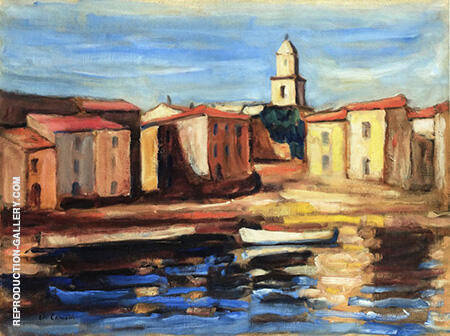 Le Clocher de Saint Tropez et la Conche 1905 By Charles Camoin - Oil Paintings & Art Reproductions - Reproduction Gallery