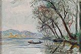 Boat on the Seine a Herblay 1945 By Charles Camoin