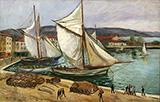 Tartanes a Saint-Tropez 1925 By Charles Camoin