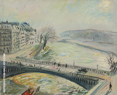 Pont Sur La Seine Painting By Charles Camoin - Reproduction Gallery