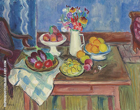 Assiette de Fruits c1950 By Charles Camoin - Oil Paintings & Art Reproductions - Reproduction Gallery