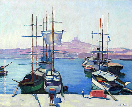 Le Port de Marseille c1904 By Charles Camoin - Oil Paintings & Art Reproductions - Reproduction Gallery