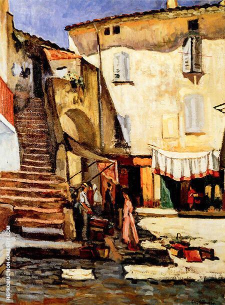 La Place Aux Herbes a Saint-Tropez By Charles Camoin