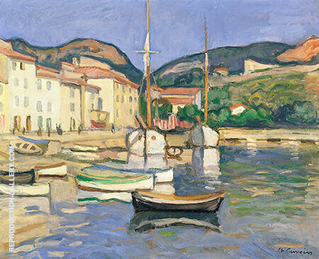 Harbour of Cassis with Two Tartanes 1905 By Charles Camoin